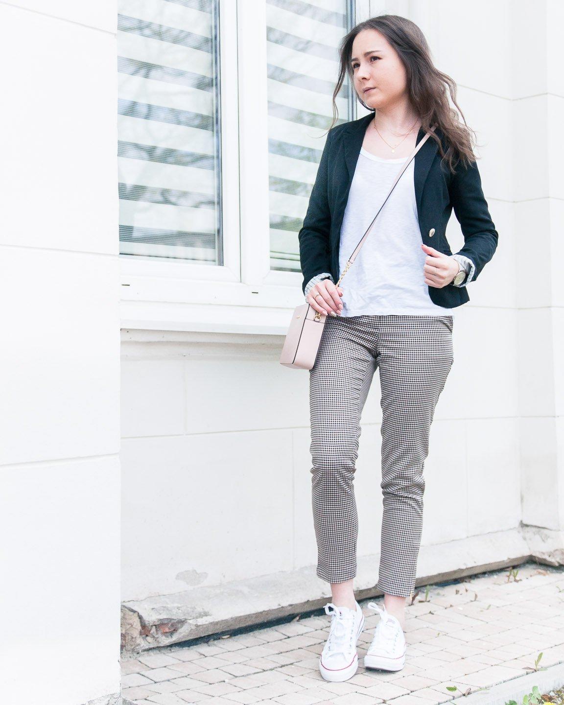 5e2b958e50f5d ❤ Wiosenna stylizacja  casual look ze spodniami w kratę i żakietem ...