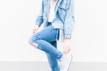 Jeansowa stylówka: denim look z butami New Balance #2