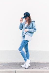 Jeansowa stylówka: denim look z butami New Balance #3