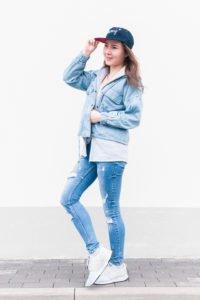 Jeansowa stylówka: denim look z butami New Balance #4